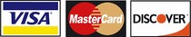 We accept Visa, Mastercard & Discover cards