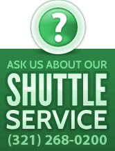 Ask us about our free shuttle service