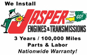 We install Jasper engines and transmissions